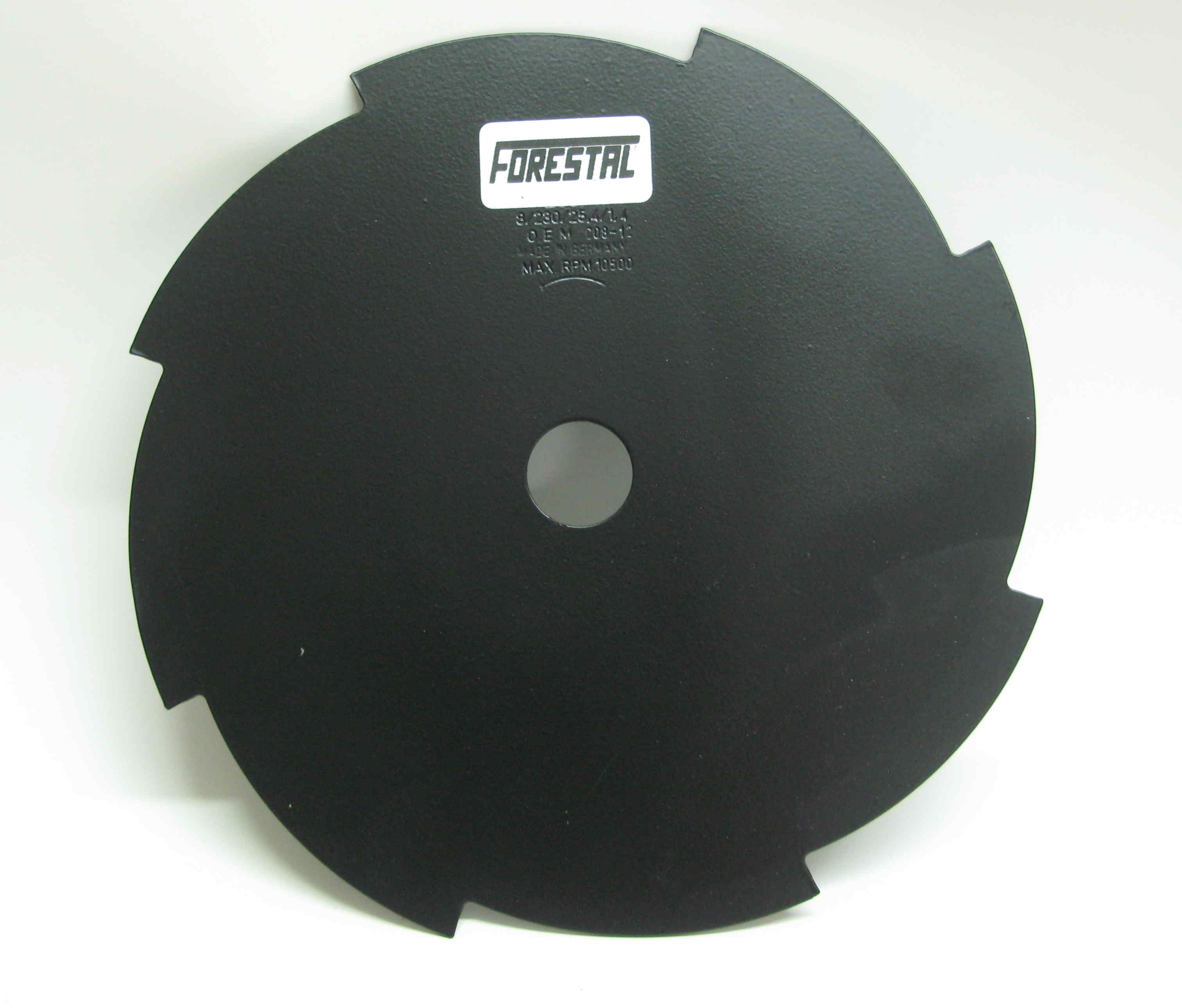 8-tooth 230mm metal brushcutter blade  (25.4mm bore). Free guard.