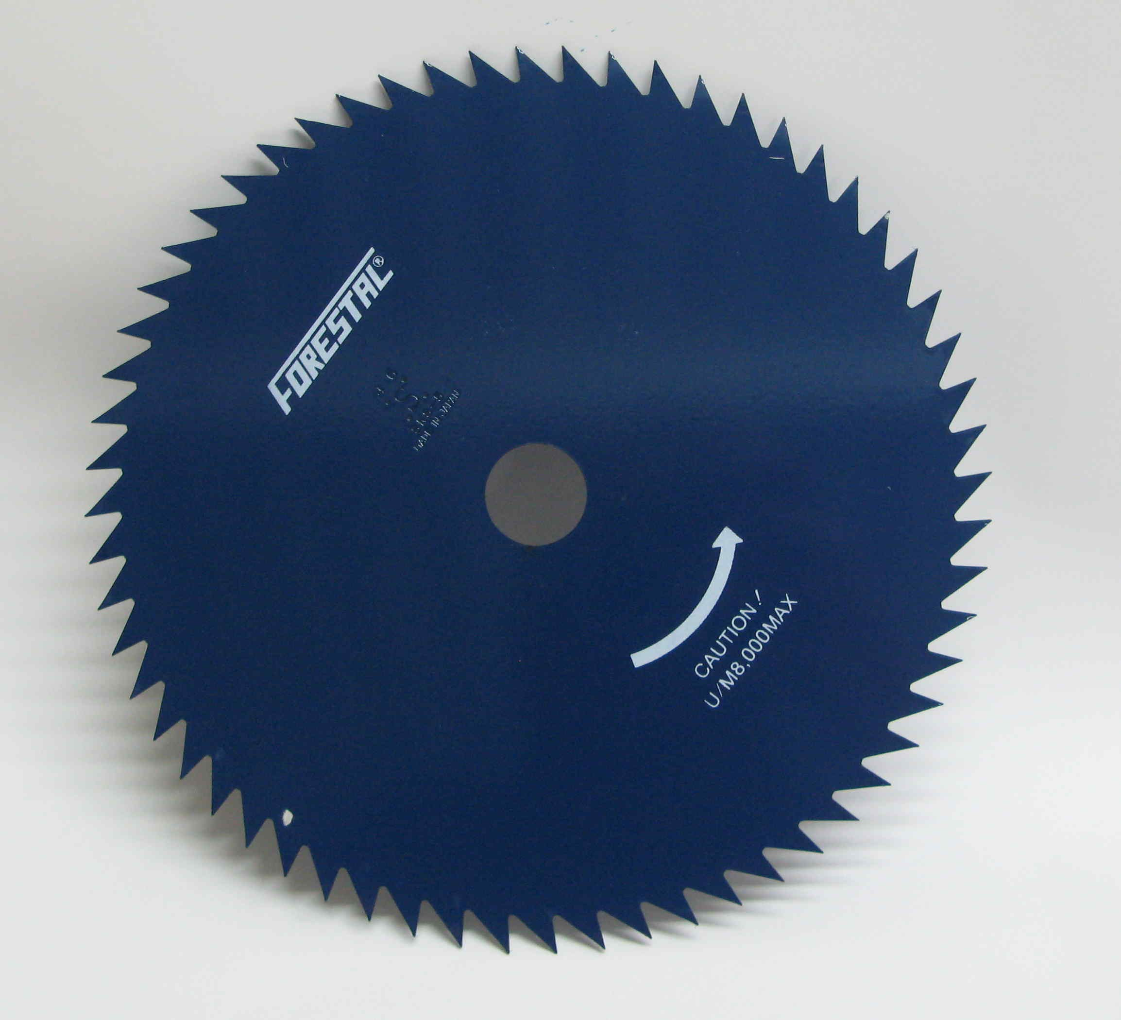 80-tooth 255mm metal brushcutter blade  (25.4mm bore). Free guard.